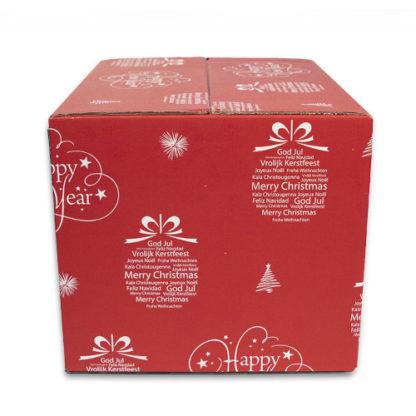 Kerstdoos rood - zijkant
